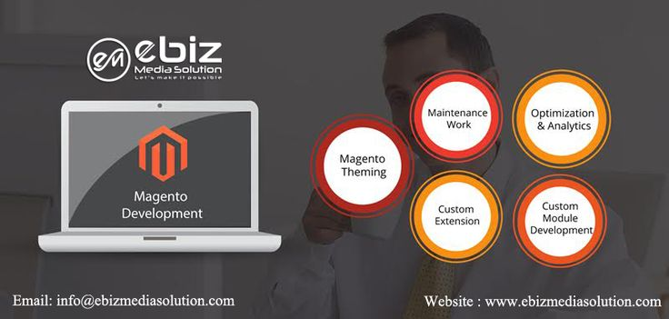 We are Ebiz Media Solution Pvt. Ltd., a renowned #MagentoDevelopmentCompany in India having experience of several years successfully delivered and servicing clients all over the world for #e-commerce #solutions. We are one of the top offshore #SoftwareDevelopmentCompany in India to provide #Magento e-commerce development services globally.