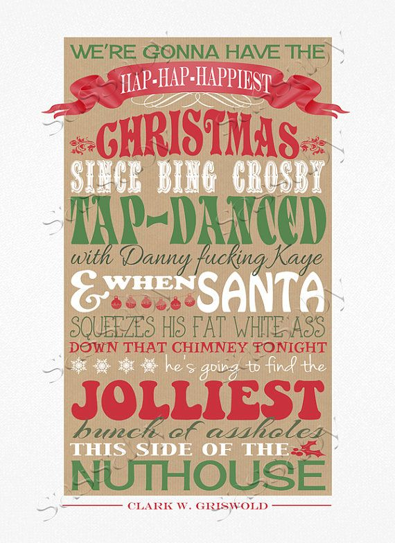 Christmas Vacation Quote PRINTABLE FILE Clark by Sassaby on Etsy
