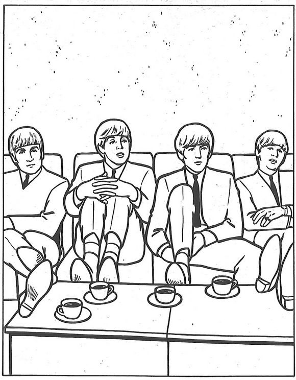 the beatles coloring book bad manners feet on the table lesson haha - Beatles Coloring Book