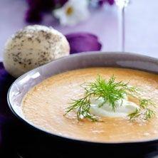 Morotssoppa - eller falsk hummersoppa - Recept - Tasteline.com
