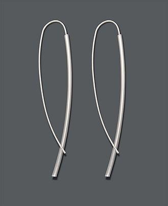 Studio Silver Sterling Silver Earrings, Dagger Drop Earrings - Silver Earrings - Jewelry & Watches - Macy's