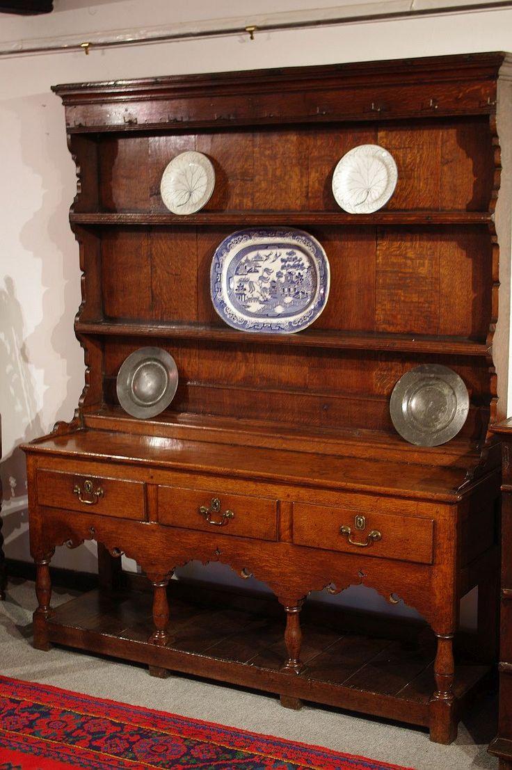 George III oak dresser and rack. Circa 1760. www.robinwheatley-antiques.co.uk
