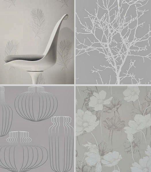 Tapeteissamme harmaan sävyjä. Cello-wallpapers in shades of gray. www.k-rauta.fi