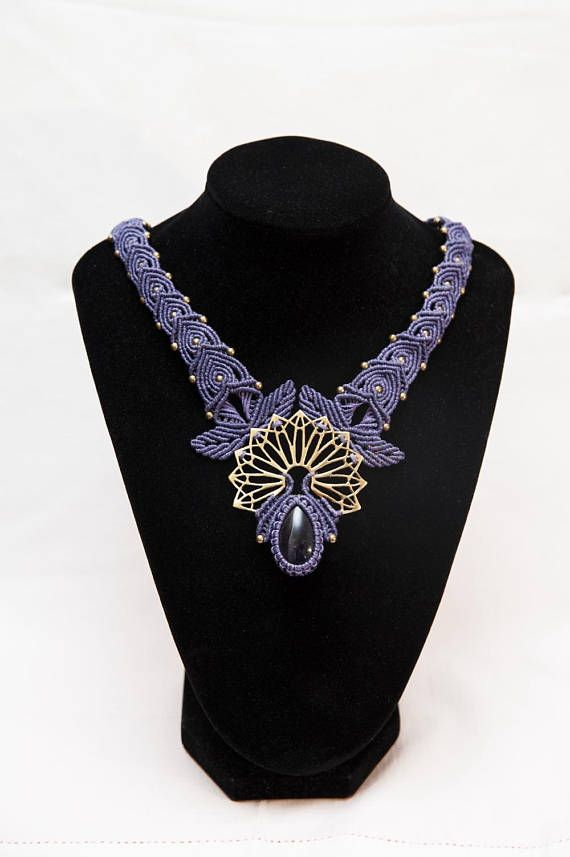 Hey, I found this really awesome Etsy listing at https://www.etsy.com/listing/563155734/macrame-amethyst-necklace-purple