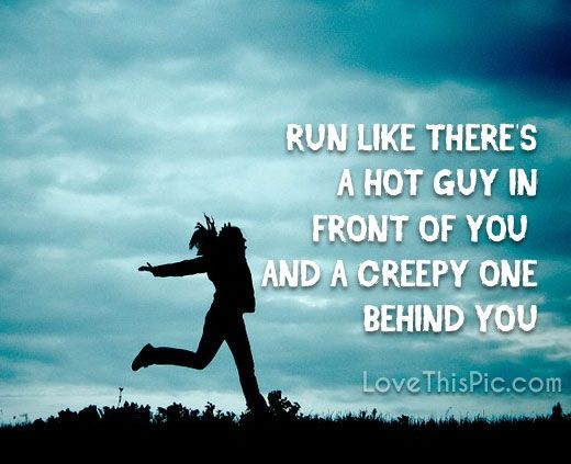 Run like... funny quotes quote workout humor exercise