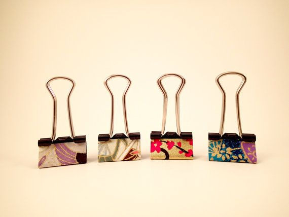Small Binder Clips - Set of 5 - 3/4""