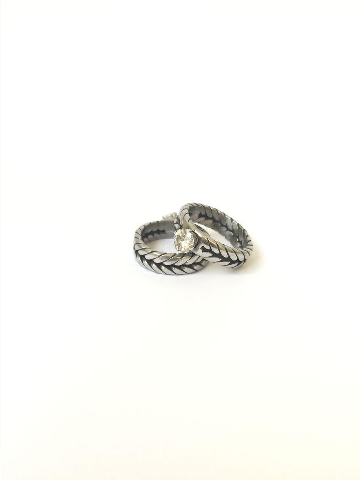 Welder Ring with Swarovski Diamond
