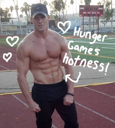 Alan Ritchson getting buff for 'Catching Fire'@Britta Douglas