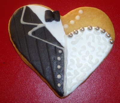 Bride and groom cookies. Joined together in holy matrimony - what God has joined together.....