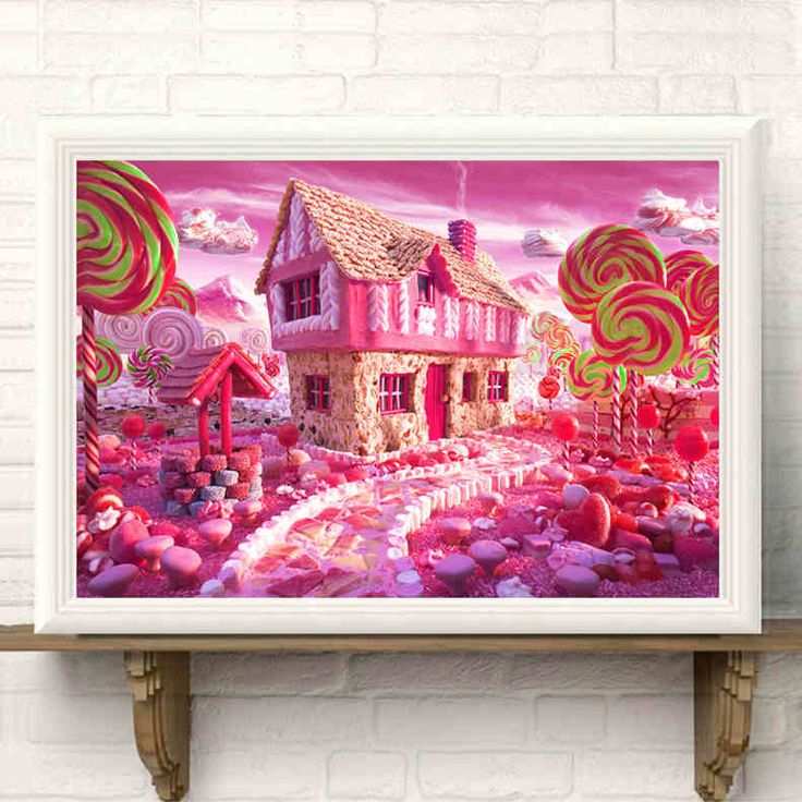 Full Drill Diamond 5D DIY Diamond Painting Candy house resin craft Embroidery Cross Stitch Rhinestone Mosaic Painting Decor Gigt #Affiliate