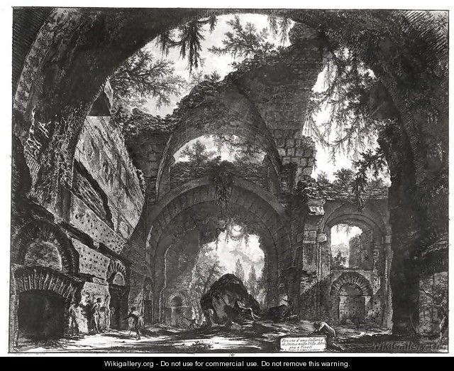 Ruined Gallery of the Villa Adriana at Tivoli - Giovanni Battista Piranesi