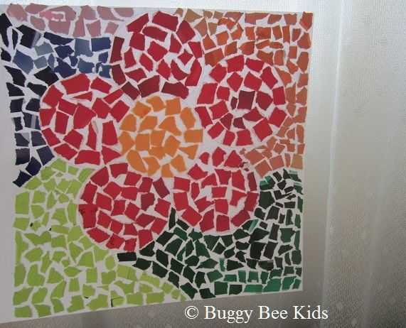 mosaic paper craft for kids