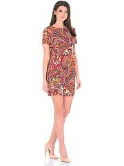 Платье женское EligoCod  Платье пейсли яркое удобное карманы по бокам можно носить с поясом.. Платье женское EligoCod промокоды купоны акции.