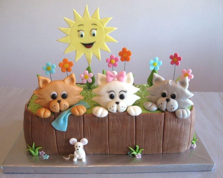 Puppy And Kitten Birthday Cakes