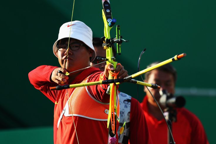 Day 1: Archery Men's Team - Dapeng Wang of China