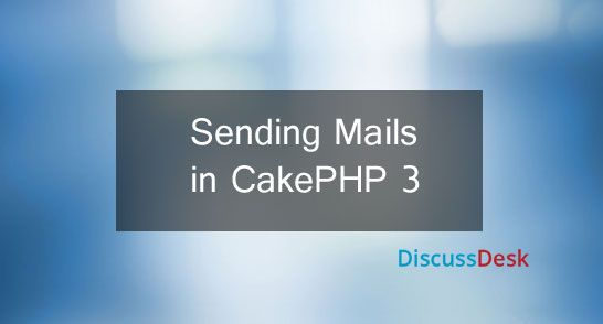 In this article, you will learn how to configure mail transport options, make mail headers, create email templates, and create reusable emails in cakephp3. Here we use SMTP (Simple Mail Transfer Protocol) to send email using cakephp3. These days it is very important to send emails from our web application like emails for registration, email for forget url link, welcome message etc. For more info: http://www.discussdesk.com/sending-emails-in-cakephp3-using-mail-class.htm