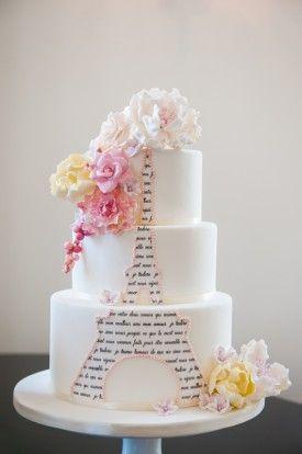 Paris Wedding Cake Virginia Erin Kelleher Photography Note