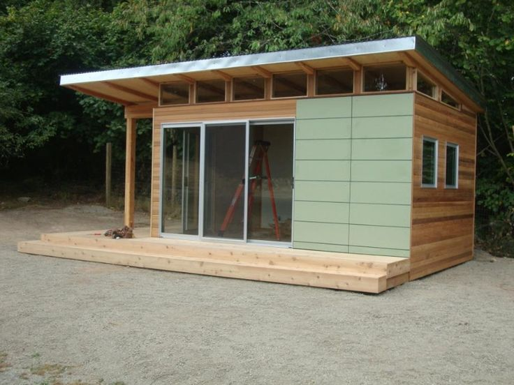 a beautiful x coastal modern shed designed as a home office on vashon island in washington state