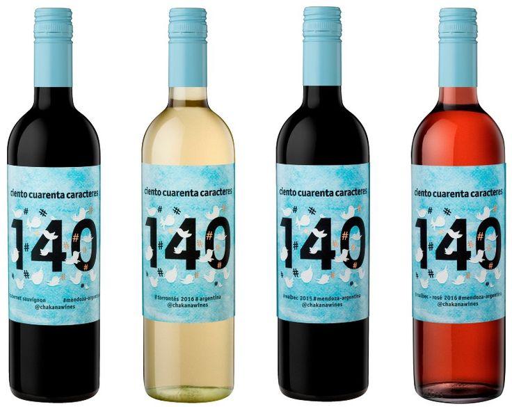 Chakana (@chakanawines) presenta su nueva línea Ciento Cuarenta Caracteres, vinos sencillos y amables, vinos para compartir.