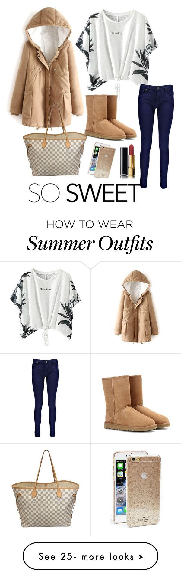 """""""Outfit / SO SWEET / Winter"""" by marianamendza on Polyvore featuring moda, Boohoo, Kate Spade, UGG Australia, Louis Vuitton i Chanel"""