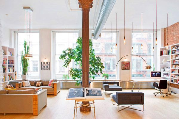 """soho apartment - used in """"the devil wears prada"""".  up for sale, listed at 5.2MM USD or for rent @ 19,200 USD/month"""