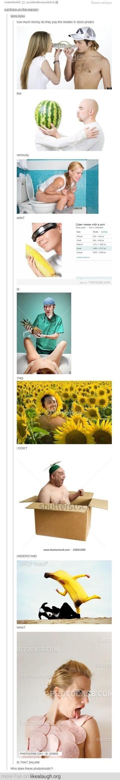 Stock photos can get  weird.