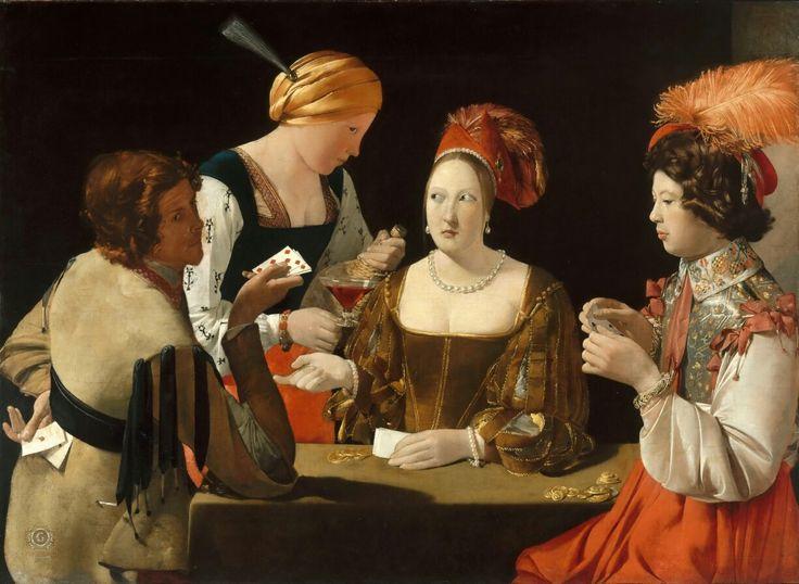 Картины: Шулер с бубновым тузом 1638 Жорж де Латур Ещё мгновение и всё изменится. Шулер приготовился вытянуть карту. Вскоре золотые монеты сменят хозяина #караваджизм