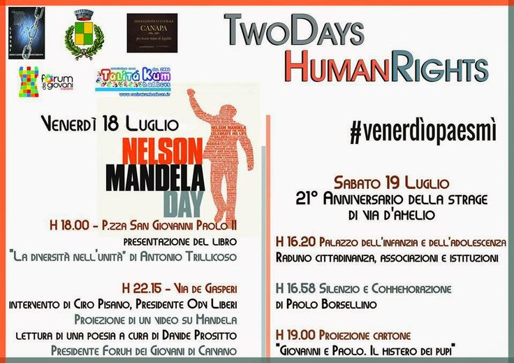ANTONIO TRILLICOSO: Presentazione in occasione del TWO DAY - HUMAN RIGHTS