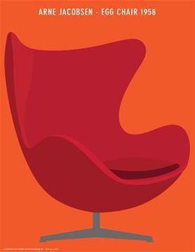 Plakat Ægget - Arne Jacobsen - 50x70 cm.