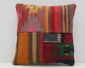 kilim rug pillow 16x16 DECOLIC small throw pillow unusual rug vintage decorative pillow colorful throw pillow sham 15459 kilim pillow 40x40