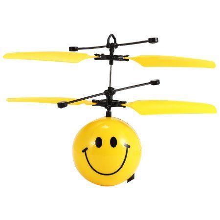 Infrared Sensor Hand Induced Flight Emoji Flying Helicopter Balls RC Drone Toys for Kids/Teenager Color:Smiley Face