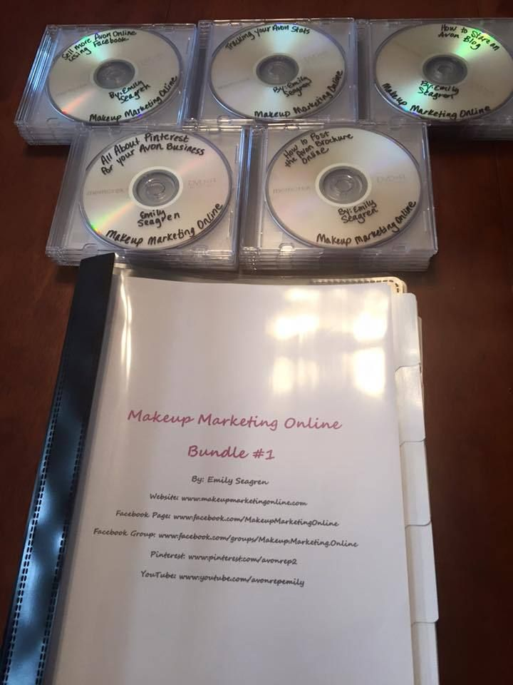 How to Sell Avon Online DVD & Workbook Bundle 1 http://www.makeupmarketingonline.com/how-to-sell-avon-online-dvd-workbook-bundle-1/