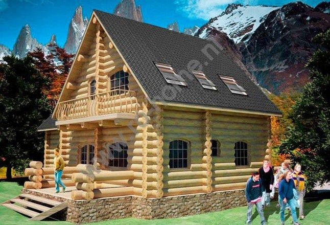 Houtstapelbouw Woning Luminita | Houten huis bouwen-exterior #houtstapelbouw #chalets #houtenhuizen #housesforsale #huistekoop #houten #huizen #houses #landscape #uniqueplaces #houtenhuis #woonhuizen
