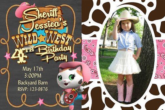 20 Sheriff Callie Invitation Rodeo Party by DazzelPrintz on Etsy