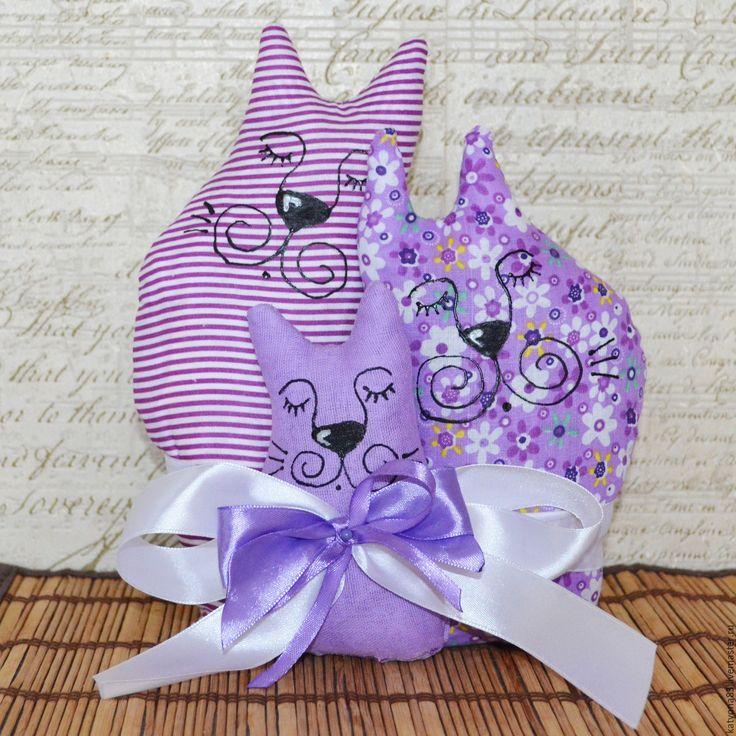 Купить Лавандовая семья - сиреневый, коты, коты и кошки, свадьба, годовщина свадьбы, свадебный подарок