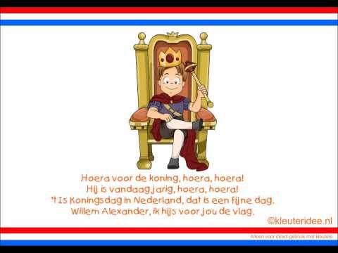 Lied voor koningsdag, van kleuteridee.nl, met nieuwe sprankelende meezingversie voor kleuters
