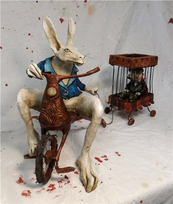 """Helen Back sculpture (mixed media) 'The Strange Turn of Events that Happened Upon Mr McConnell's Famous magic Show"""""""