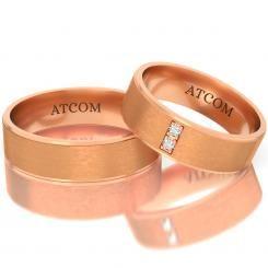 Verighete ATC202 din aur roz