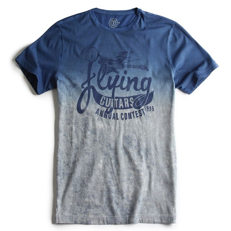 T-SHIRT ESTAMPADA AZUL ROYAL - Taco