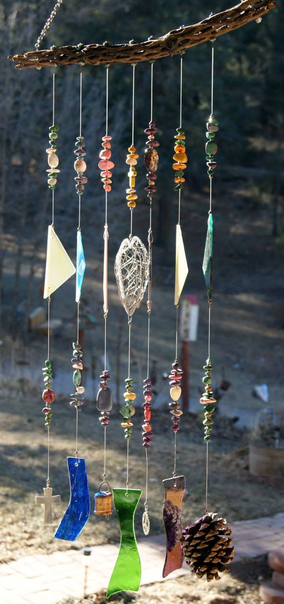 Southwest Cholla Cactus Wind Chime and Sun Catcher by WhoopsyDaisy, $55.00