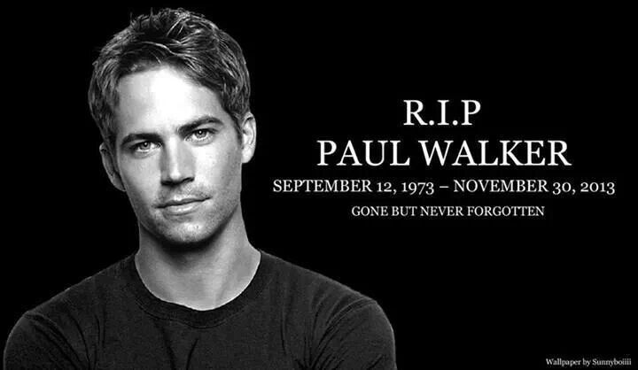 Paul walker.. You will never be forgotten :(