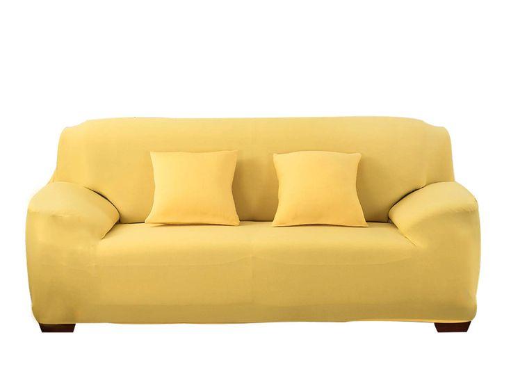 Hotniu stretch sofa slipcover 1 piece polyester spandex