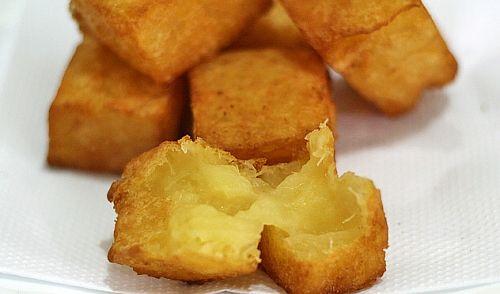 Mandioca frita e cremosa por dentro (PURÊ CONGELADO EM CUBOS)