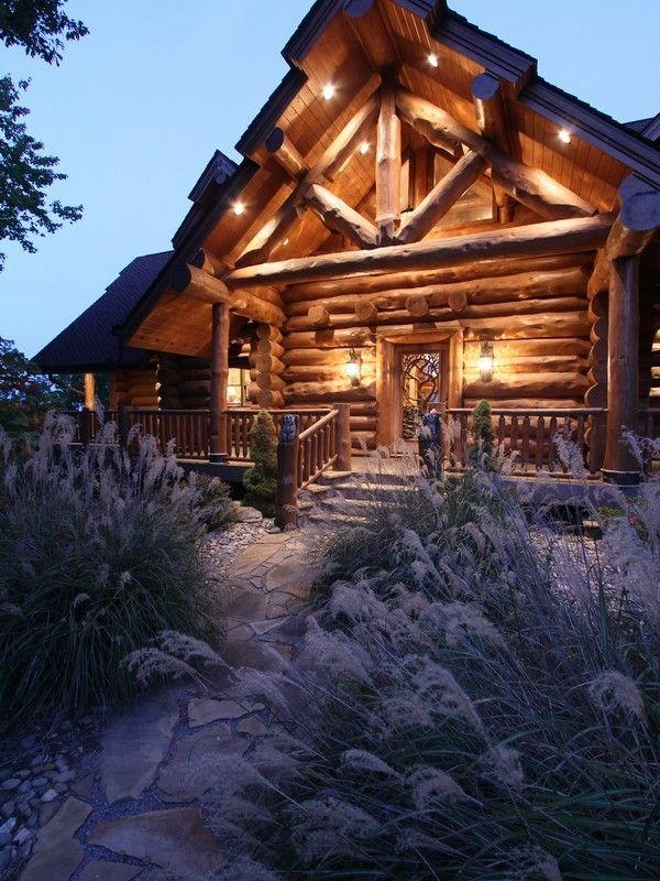 1481 best log homes not just your grandmas little log for Custom mountain homes