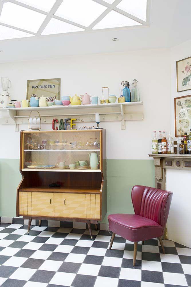 25 beste idee n over jaren 60 huis decor op pinterest for Woning meubels
