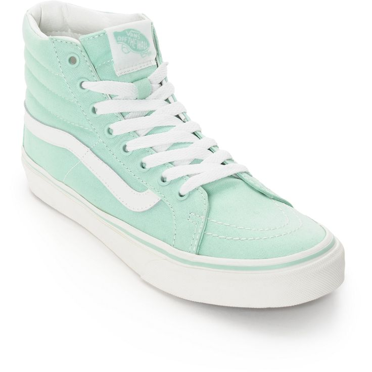 Vans Sk8-Hi Slim Gossamer Green Shoes (Womens) at Zumiez : PDP