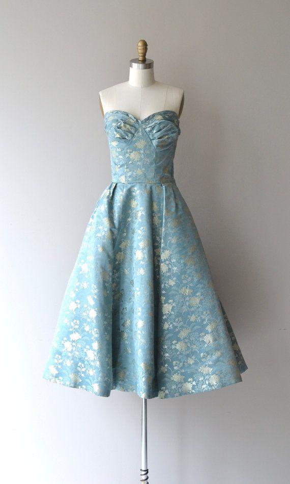 1950's brocade dress