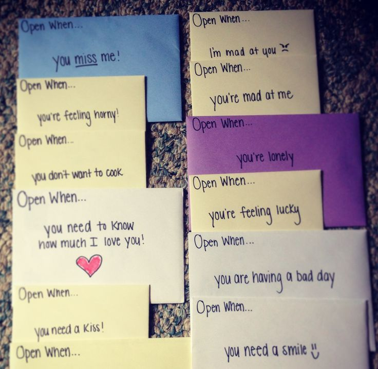 """""""Open When"""" Cards.. Such A Cute Idea For A Birthday"""