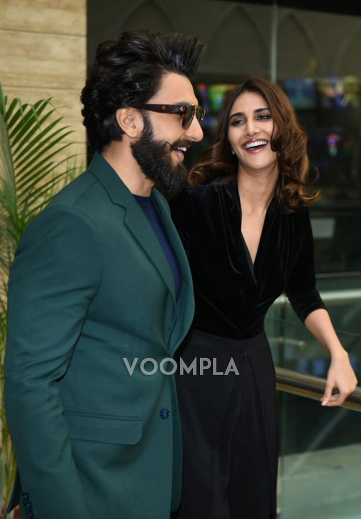 Candid shot of Ranveer and Vaani. Click Here >> Voompla.com