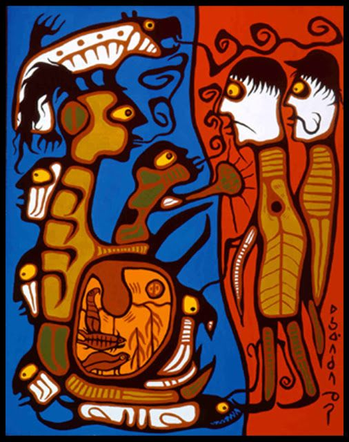 Norval Morrisseau- Land rights, 1976.